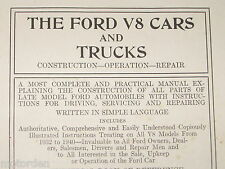 FORD V8 CARS & TRUCKS Construction+Operation+Repair 1942 BOOK 823 pgs NO RESERVE