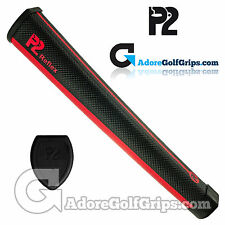 P2 Reflex Giant Putter Grip - Black / Red + Free Tape