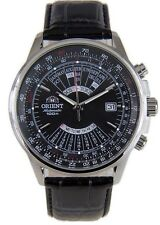 Orient Multi-Year Calendar FEU0700BBH Black Dial Black Leather Band Men's Watch