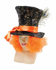 MAD CAPPELLAIO Hat Con Orange Capelli Paese Delle Meraviglie Tema Fancydress Accessorio ALICE