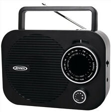Jensen AM FM Portable Radio Black AC Adapter or Battery Aux In Free US Shipping