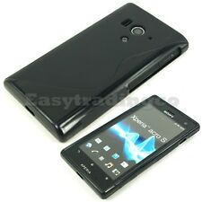 Soft Rubber Case Sony Xperia Acro S LT26w Black
