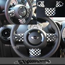 MINI ONE COOPER R55 R56 R57 R58 R59 R60 R61 LENKRADSPANGE EINSATZ CHECKERED FLAG