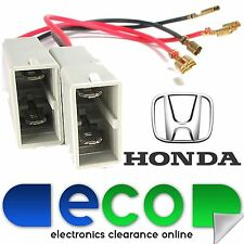 Honda Jazz 2001 - 2008 Front Door Car Speaker Adaptor Plug Lead Wire Connectors