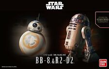 Bandai New 1/12 STAR WARS BB-8 & R2-D2 The Force Awakens from Japan BB8 R2D2 NIB
