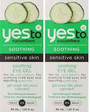 Yes To Cucumber Soothing Eye Gel, 1.01 Fluid Ounce (2 Pack)