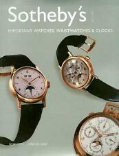 Sotheby's ///  Wristwatches Watches & Clocks Patek Post Auction Catalog 2002