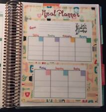 Weekly Meal Planner 2 Sided Dashboard Insert for use with Erin Condren Planner
