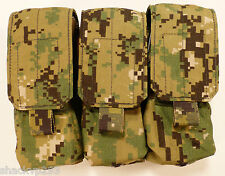 Eagle Industries Triple MAG Pouch AOR2 Molle SEAL DEVGRU NSW RARE NEW / AOR1