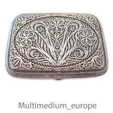 Silber Draht Zigaretten Etui Dose filigran silver cigarette case box filigree