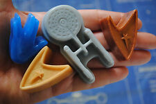 5 x Star Trek soap -Enterprise, 2-Insignia and 2-Vulcan salute, gift