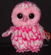 TY BEANIE BOOS - PINKY the OWL - MINT with MINT TAGS
