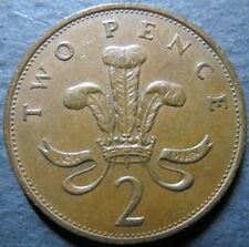 *UK/GREAT BRITAIN, Vintage 1989  TWO PENCE COIN, Queen E II Obverse Nice Details