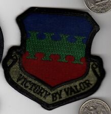 Subdued US Air Force VICTORY BY VALOR Squadron Patch
