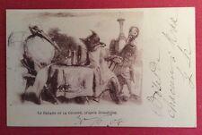 CPA. 1904. LE RENARD ET LA CIGOGNE. Grandville. Fable La Fontaine.