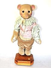 RARE WENDY BRENT LOVE & ROSES TALES FROM THE VIENNA MUSICAL ALA WISHES BEAR DOLL