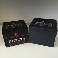 New Authentic INVICTA Reserve Black Watch Box Storage Case With Outer Box