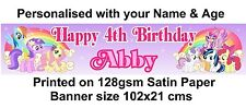 Personalised My Little Pony Banner Birthday Party Decoration 102x21 cms