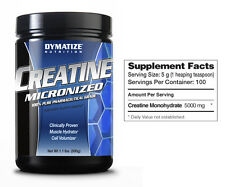 Dymatize Micronized Creatine - 500 g - 1.1 lb Worldwide Shipping
