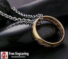 The Lord of the Rings TOP quality Tungsten ring Necklace Free Engraving one ring