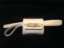 MOSCHINO logo charm pochette belt purse