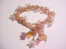 MONET 'WATER LILY' Seed Bead Spiral Rope Bracelet Kit