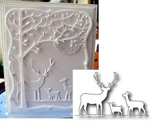 DEER TRIO border metal cutting die MEMORY BOX dies 98166 Buck Doe Fawn Nature