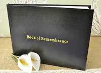 Black Book of Remembrance. Condolence Book. Funeral Guest Book. Memorial Book