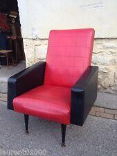 Gros fauteuil des années 1960 en skaï