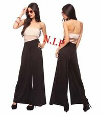 Colorblock Tube Bandeau Top Retro Strapless Palazzo Wide Leg Long Pants Jumpsuit