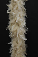 80 Gram CHANDELLE FEATHER BOA - BEIGE 2 Yards NEW BOAS! Costume/Halloween/Bridal