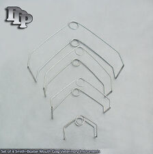 Set of 4 Smith-Baxter Mouth Gag Veterinary Surgical Instruments
