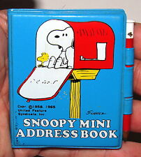1965 SNOOPY MINI ADDRESS BOOK w/ PENCIL----VINTAGE PEANUTS GANG!!!!