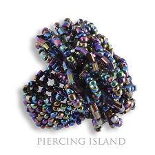 Diseñador de noble anillo de mano de vidrio perlas beads ar184