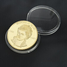 40MM Gold Diana Princess Of Wales Commemorative Coin Art Collectible Gift