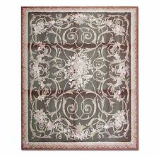 STUNNING HANDMADE FRENCH NEEDLEPOINT RUG - AUBUSSON TAPESTRY 8x10