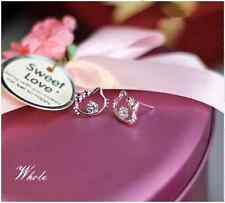 Micro-inlay Cubic Zirconia Sterling Silver Mini *Hello Kitty* Stud Earring