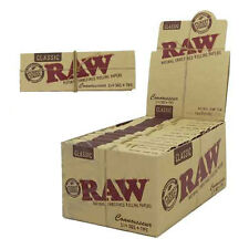 Bulk Buy 24 x Booklet Raw Classic 1 1/4 Connoisseur Rolling Paper + Tip Tobacco