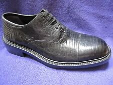 Cole Haan Genuine Lizard Black Dress Lace Up Oxford Shoe NEW NWOB 8.5 D Italy