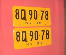 1935 New York License Plates for Ford Chevy Dodge Buick Cadillac Car or Truck