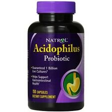 Natrol Acidophilus Probiotic 100 mg 150 Caps 1 billion live cultures EXP 5/31/17