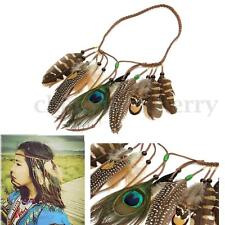 Indian Tassels Festival Feather Headband Party Headpieces Feathers Hair Rope