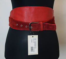 Alice By Temperley Sample Red Firebird Leather Belt  One Size