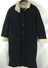 Bromley Sport Woman L Quilted Black Feather Down Insulated Puffer Trench Coat O