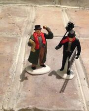 "Department 56, Dickens Village, ""Town Crier"" & ""Chimney Sweep"" set of 2"