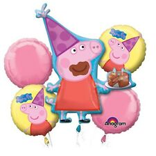Peppa Pig Anagram Balloon Bouquet Birthday Party Decorations