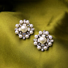 Great Gatsby Elegant Sophisticated Vintage Wedding Bridal Pearl Stud Earring