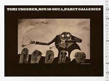 1963 Tomi Ungerer CHARIMAN OF THE BOARD rare D'Arcy Galleries Exhibition Poster