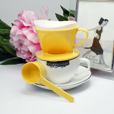 Follicular Coffee Latte Expresso Plastic Filter maker Dripper with Spoon New