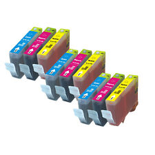 9 PK COLOR Ink Cartridges for Canon series CLI-221 MX860 MX870 MP980 MP990 640